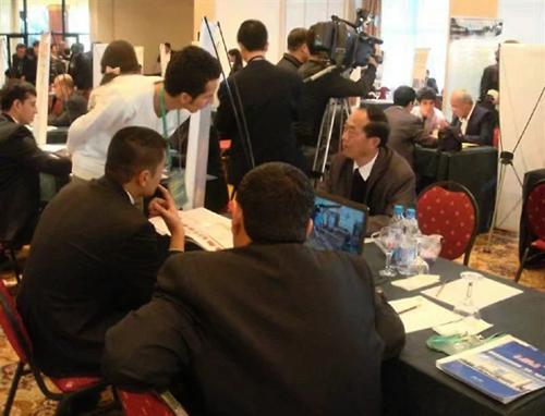 国外客户洽谈业务