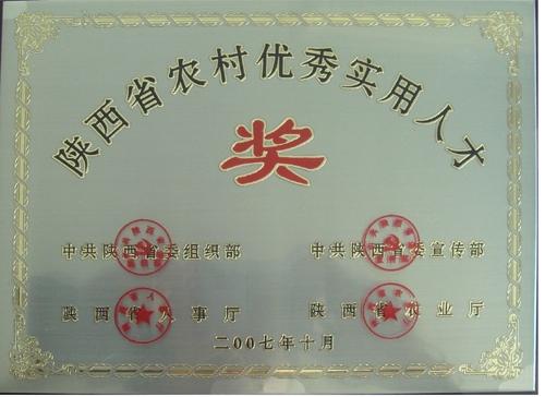 陕西省农村优秀实用人才